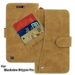 На Алиэкспресс купить чехол для смартфона leather wallet blackview bv5500 pro case flip retro vintage leather front card slots cases cover business phone protective bags