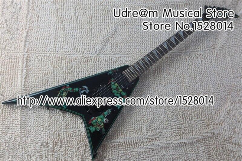 Édition limitée adolescente mutante Ninja tortues Jackson Suneye volant V guitare électrique en Stock à vendre