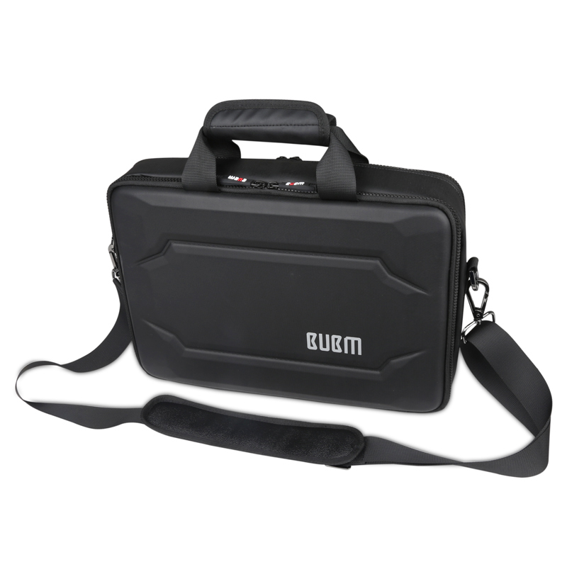 EVA Hard Case Laptop Bag Air 11 and 13 Laptop Business Anti Pressure Fashion Shoulder Handbag Black and Gray