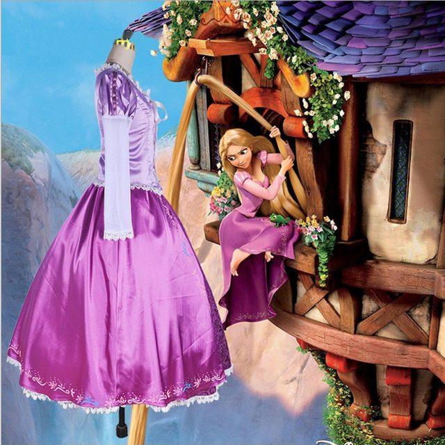 image  sc 1 st  Aliexpress & Online Shop Adult Rapunzel cosplay costume princess Tangled Sofia ...