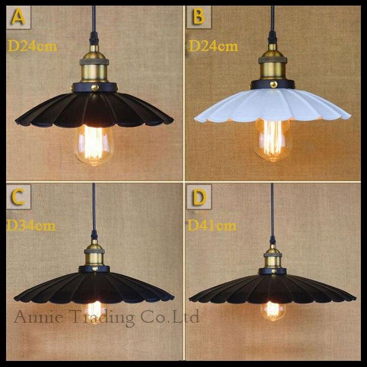 ФОТО AC100-240V Modern D24/D34/D41cm Creative unbrella Lotus leaf lamp shade pendant light  black white pendant hanging lamp