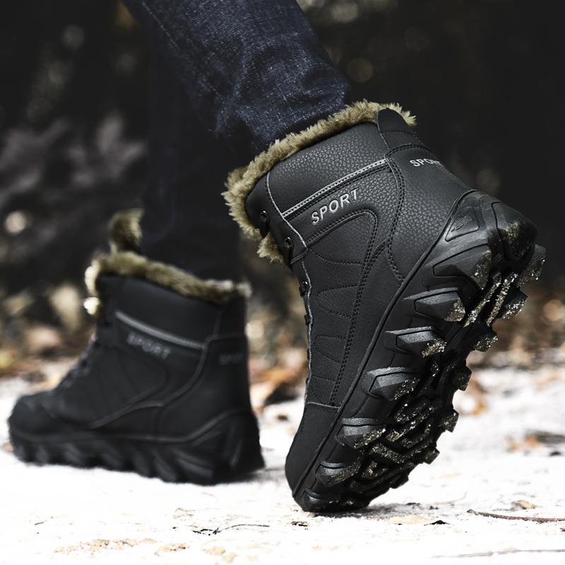 Casuais Além Backcamel Black Livre Sapatos Anti Ar Grande De Size38 Tamanho Homens Algodão Neve Calçados skid Dos Quente Inverno Ao brown 46 Botas 2018 IaBqawxf