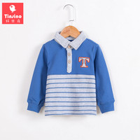 Tinsino Baby Boys Spring Full Sleeve Striped Polo Shirts Children Autumn Cotton Stripes Tops Polo Tops