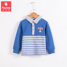 Tinsino Baby Boys Autumn Long Sleeve Polo Shirts Kids Boy Spring Outerwear Stripe T-shirt Tops Clothes Children Fashion Clothing