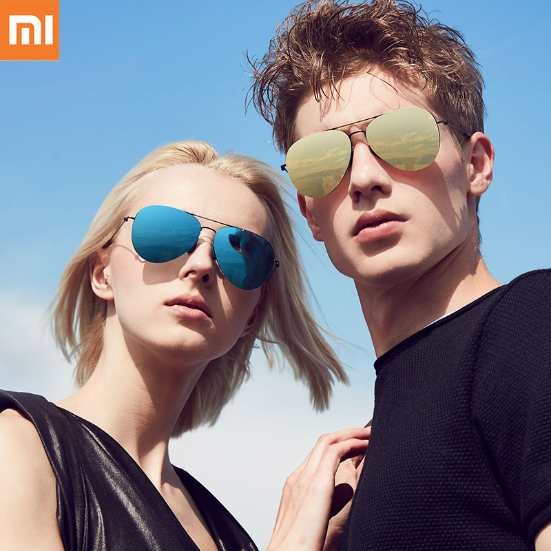 Original Xiaomi Mijia TS Brand Nylon Polarized Stainless Sunglasses Lenses 100 UV Proof for Outdoor Travel