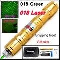 [ReadStar] RedStar 018 alta 1 W Green Laser pointer laser pen queimar jogo cap estrela Dourada estilo incluem 18650 bateria e carregador
