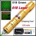 [ReadStar]RedStar 018 high 1W Green Laser pointer laser pen burn match star cap Golden style  include 18650 battery and charger