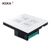 KEKA Hotel Switch smart wall touch switch 4 Gang Do not disturb,Clean up,room,doorbell  Crystal Glass Panel AC220-250V
