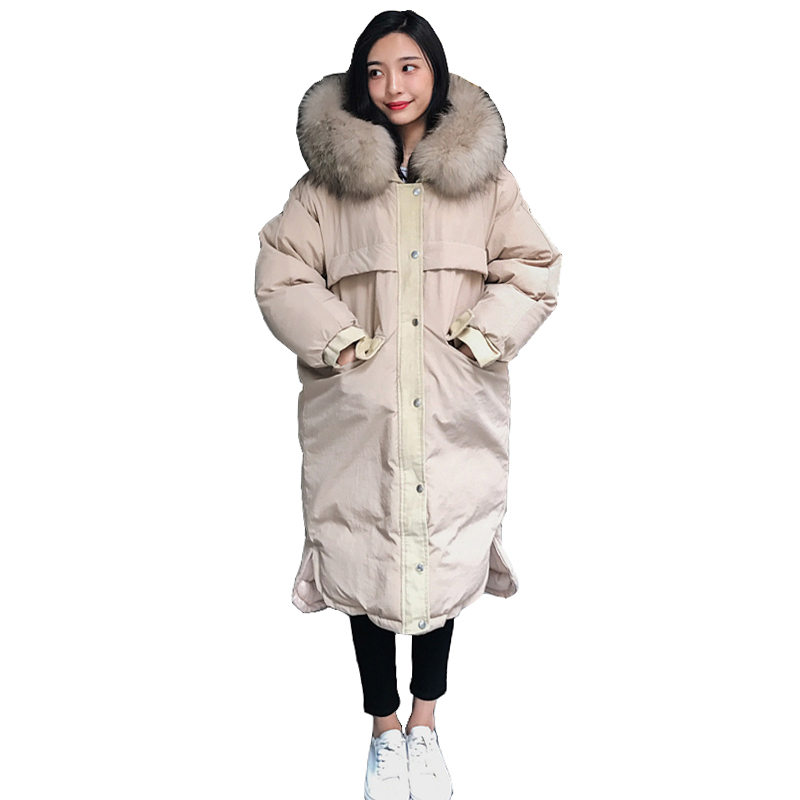 manteau femme Fur Hooded Ladies Coat 2018 Autumn Winter Coats and Jackets Women Warm Long Jacket Cotton Padded   Parka   Mujer A967