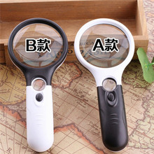Xinxiang Glasses Loupe Optical Lens 3 LED Handheld Magnifier 3x 45x Hand Illuminated Magnifying Glass Lamp