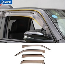 MOPAI Awnings Shelters for Toyota 4 Runner Car Window Visor Vent Shade Sun Rain Guard for Toyota 4Runner 2014+ Car Accessories