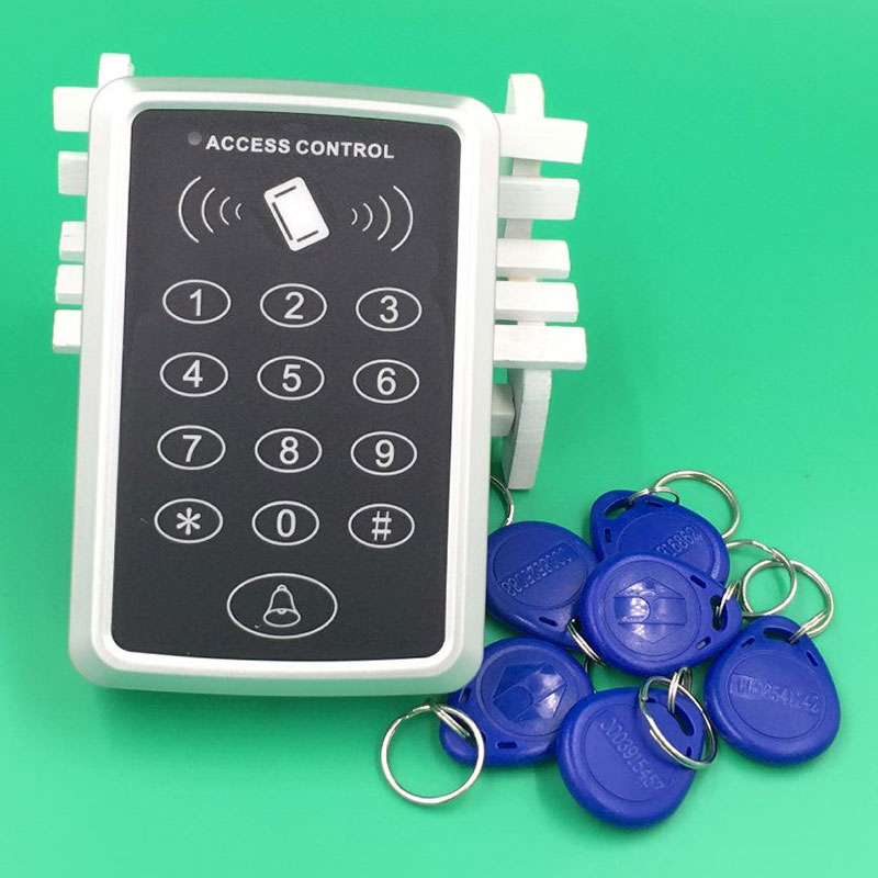Free shipping RFID Reader Magnetic single door access controller system+10 pcs 125kHz RFID Proximity ID Token Tag Key Keyfobs diysecur lcd 125khz rfid keypad password id card reader door access controller 10 free id key tag b100