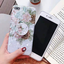 Luxury Glitter Candy Silicon Phone Case For iPhone 7 8 X XS Max XR Bracket Flower Case For iPhone 8 7 6 S 6S Plus Soft TPU Cover цена и фото