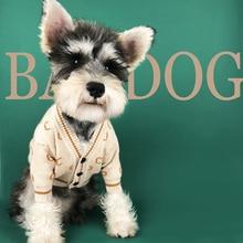 Зимние теплые Pet Одежда для собак маленькие собачки Чихуахуа свитер Французский бульдог наряд пальто щенок модная куртка костюм для мопса PC0919