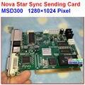 NOVASTAR MSD300 Отправки Карты, высокая частота обновления, высокий серый класса, контроллер синхронизации, поддержка 1280*1024 пикселей, двойной rj45 экспорта