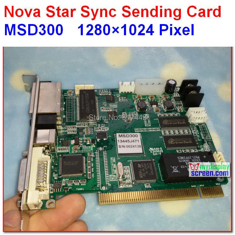 NOVASTAR Sending Card MSD300 high refresh high gray grade sync controller support 1280 1024 pixel dual