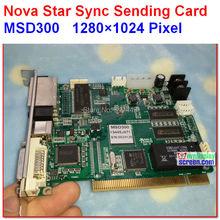 NOVASTAR Kart MSD300 Gönderme, yüksek yenileme, yüksek gri sınıf, sync kontrolörü, destek 1280*1024 piksel, çift rj45 ihracat