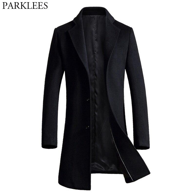Здесь продается  Long Wool Coat Men 2017 High Quality Men Trench Coat Winter Wool Blends Pea Coat Jacket Slim Fit Mens Overcoat Manteau Homme 3XL  Одежда и аксессуары