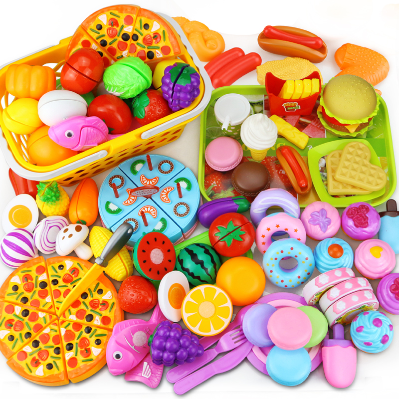 12-31PCS Cutting Fruit Vegetable Food Pretend Play Do House Toy Children's Kitchen Kawaii Educational Toys Gift For Girl Kids(China)