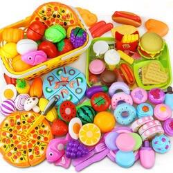 12-31 шт. резка фруктов растительная пища ролевые игры дом игрушка детская кухня Kawaii развивающие игрушки Подарки для девочек детей