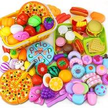 12 31 Chiếc Cắt, Hoa Quả Thực Phẩm Giả Vờ Chơi Làm Nhà Đồ Chơi Trẻ Em Bếp Kawaii Đồ Chơi Giáo Dục Quà Tặng cho Bé Gái Trẻ Em