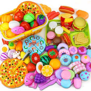12-31 peças de corte frutas vegetais alimentos fingir jogar fazer casa brinquedo cozinha das crianças kawaii brinquedos educativos presente para a menina crianças