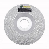 DIATOOL Vacuum Brazed Diamond Grinding Cup Wheel For All Stone And Construction Material