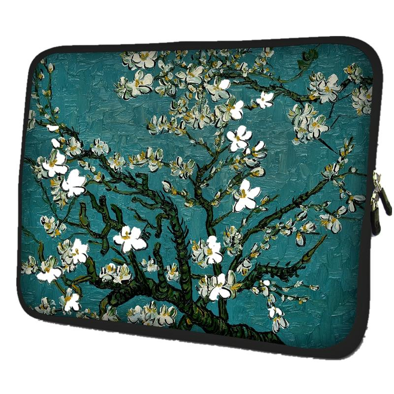 14 14.1 14.4 inch Portable Zipper Soft Sleeve Protective Flowers Laptop Bag Case Ultrabook Notebook For ASUS Dell Vostro # #K