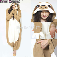 Super Natural Women Men Adult Winter Animal Sloth Kigurums Pajamas Onesie Cosplay Folivora Costume Homewear For
