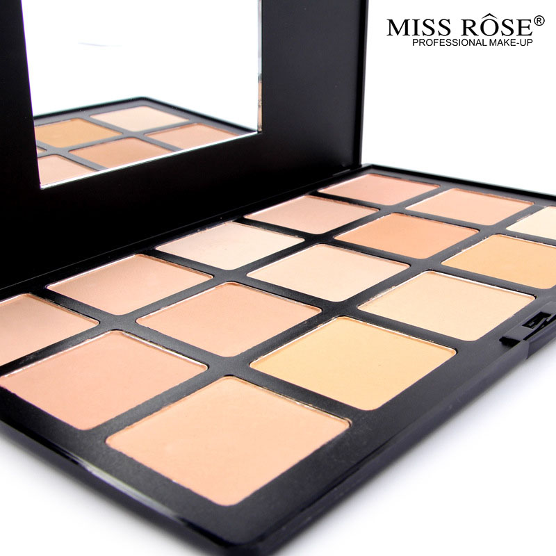 MISS ROSE Brand Illuminator Makeup Face Highlighter Foundation Bronzers Highlighters <font><b>Contour</b></font> Makeup powder foundation dark skin