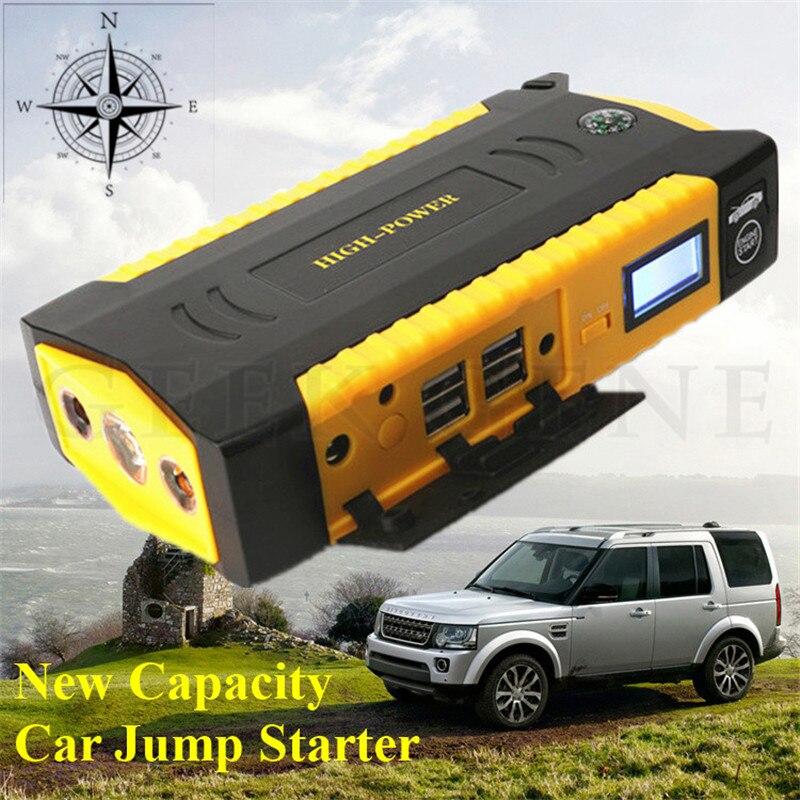 GeekGene Emergency 16000mAh Mini 12V Car Jump Starter Portable 600A Peak Car Charger 4USB Power Bank