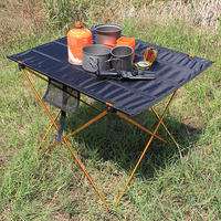 Portable Camping Side Tables with Aluminum Table Top: Hard Topped Folding Table in a Bag for Picnic  Camp  Beach  Boat|Outdoor Tables|   -