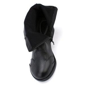 Image 4 - BEYARNE  2018 Autumn Fashion Women Genuine Leather Boots Handmade Vintage Flower Ankle Botines Shoes Woman Winter botas