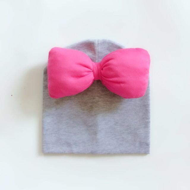 big hot pink bow tie hat cap beanie bonnet for girls Kids baby Toddler  infant cotton cap Butterfly Knot Melamed photograph props 9723e7d56c2