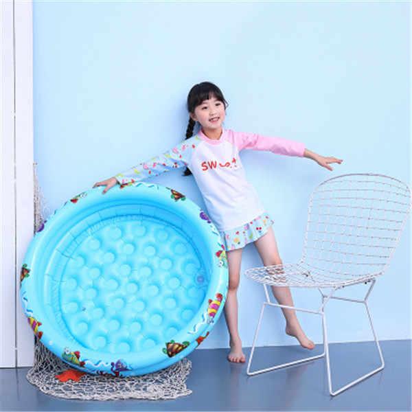 3 цвета, круглый для детей 0-3 лет, Детские рыболовные INS, надувные плот, игрушки для купания, Детские Летние Водные гигантский бассейн, трубка