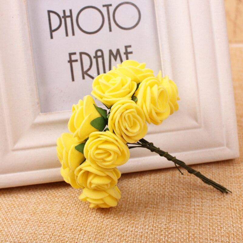 144 unids Mini Foam Rose flores artificiales decoración del hogar - Para fiestas y celebraciones - foto 3