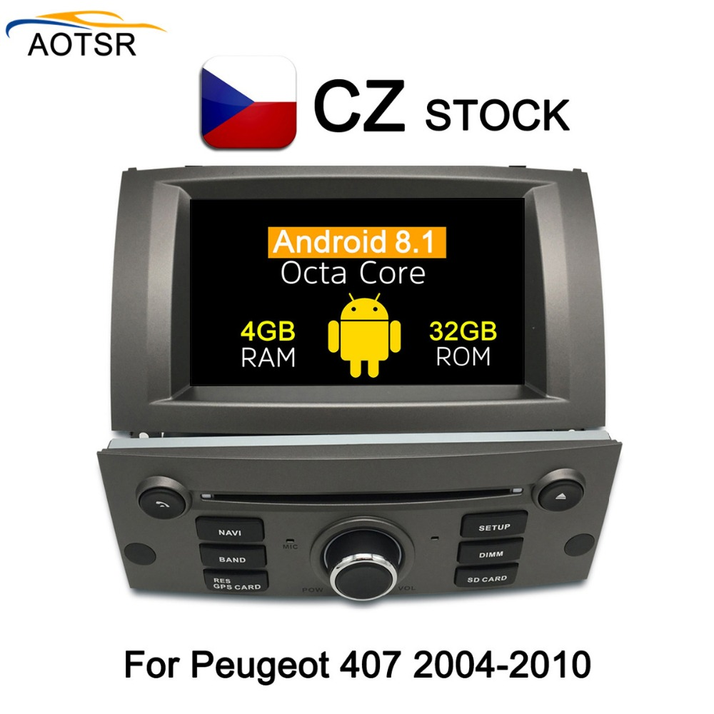 """7""""Android 8.1 Car DVD multimedia Player head unit For Peugeot 407 2004 2005 2006 2007 2008 2009 2010 radio stereo GPS Navigation-in Car Multimedia Player from Automobiles & Motorcycles    1"""