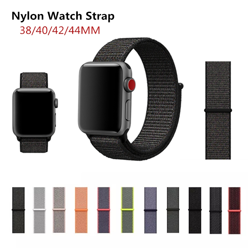 Band For Apple Watch Series 1/2/3 42MM 38MM Nylon Soft Breathable Replacement Strap Sport Loop For iWatch Series 4 44MM 40MM strap for apple watch 42mm fine woven nylon adjustable replacement sport band for apple watch 38mm series 1 series 2
