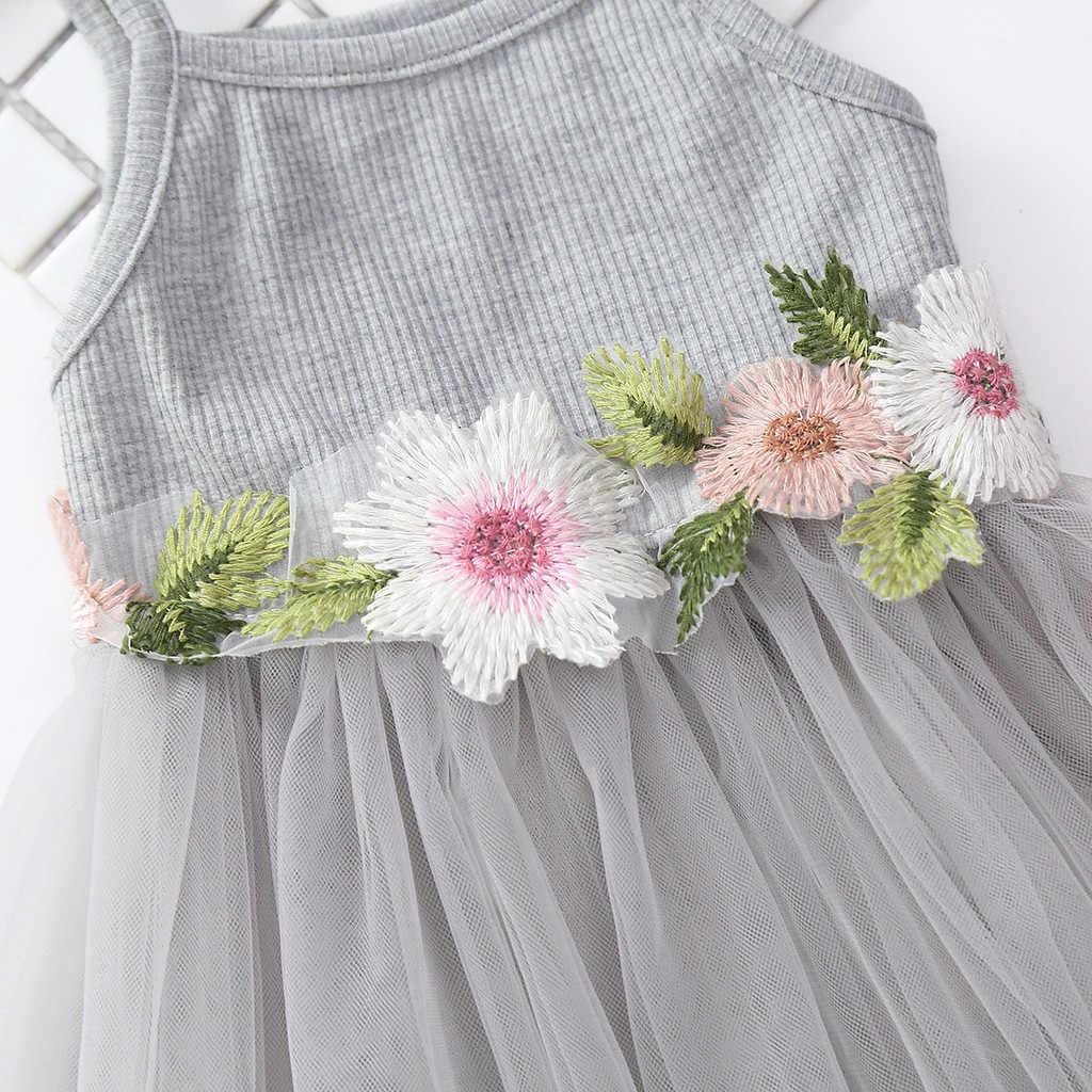 طفل أطفال طفلة الأزهار الأميرة حفلة حزام تول فساتين ملابس كاجوال أطفال طفل بنات جميلة زهرة فستان