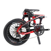 F2.0 carbon fiber folding bike BMX 20 inch 16 speed 18 speed double disc brake light portable bike
