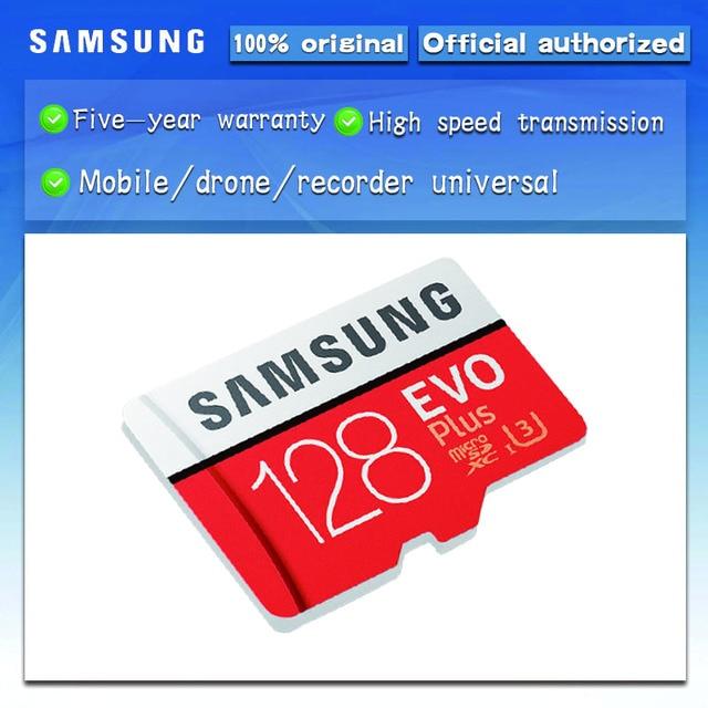 SAMSUNG cartão Micro SD 128 GB EVO Além de Cartão de Memória microsd de 128 GB Cartão TF C10 Class10 UHS-I U3 Frete grátis cartao de memoria