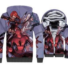 The Avengers Anime Hoodies Autumn Winter Thick Mens Hip Hop Unisex Zipper Jacket Harajuku 3D Spiderman Hoody Sweatshirt