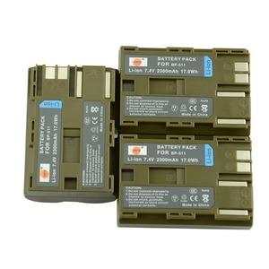 3 pcs BP-511 BP511A DSTE Bateria para Canon 20D 30D 40D 50D 300D 5D 10D MV 30i 300 300i ZR20 powerShot 25MC G1 G2 G3 G5 G6 90 90IS