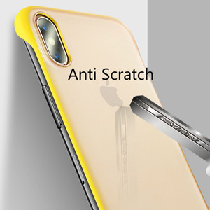 Image 4 - New Fashion phone case PC Cover for iphone XS Max XR Frameless Transparent Matte Hard  Case for iphone 6 7 8 Plus Finger Ring