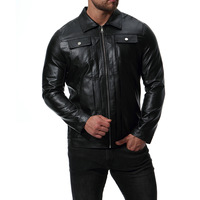 New Arrive Brand Motorcycle Leather Jacket Men, Men'S Leather Jacket Jaqueta De Couro Masculina,Mens Leather Jackets Coats