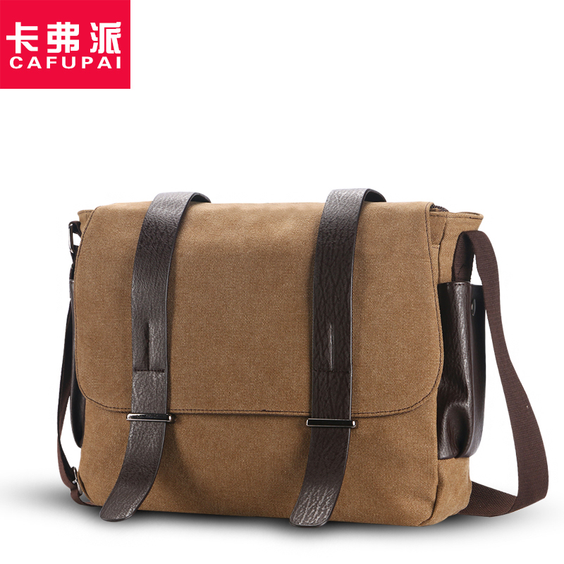 New Casual Canvas&cow leather Men's Cross-body bags Brand Design Fashion Male Shoulder Messenger Bags laptop bag