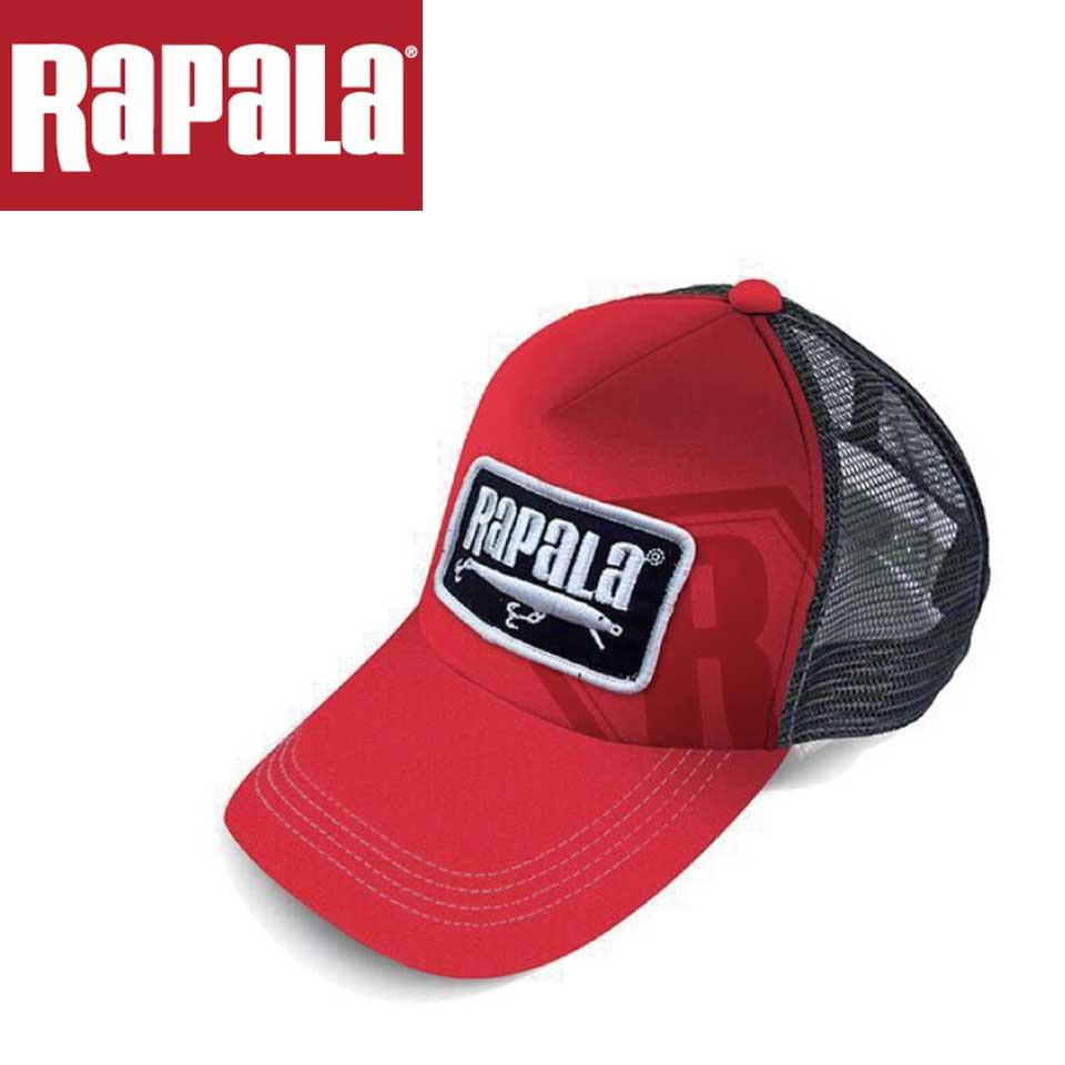 Rapala Fishing Lures Hat Red Black Tan Adjustable BASS ANGLER