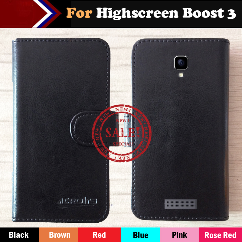 Highscreen Boost 3 Case Factory Price 6 Colors Fashion Slip Leather Exclusive Case For Highscreen Boost 3 Protective Phone Cover image