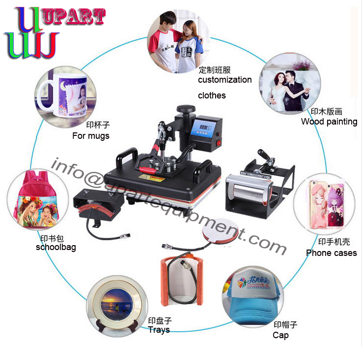 Worldwide delivery 5 in 1 heat press machine in Adapter Of