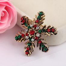 24936ff7013 New Lady Fashion Winter Brooch Sparkling Crystal Rhinestones Large  Snowflake Brooch Pins Jewelry Brooches Women Christmas Gift